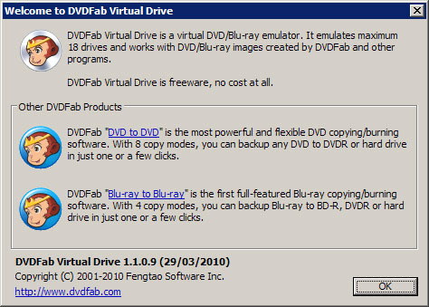 虛擬光碟機 DVDFab Virtual Drive 1.4.1.0