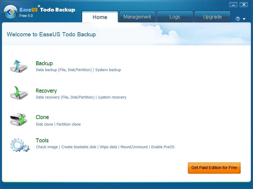 硬碟備份軟體 中文版 Easeus Todo Backup Free