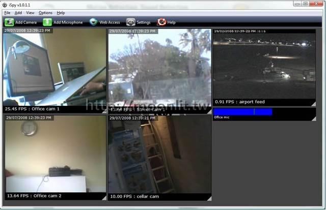 免費電腦監視軟體 iSpy