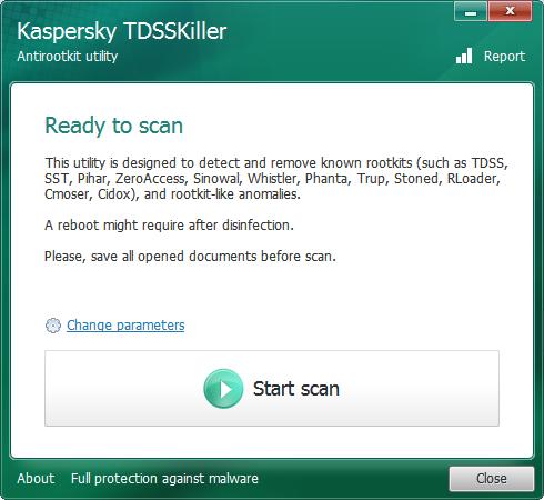 Kaspersky TDSSKiller 惡意軟體移除工具